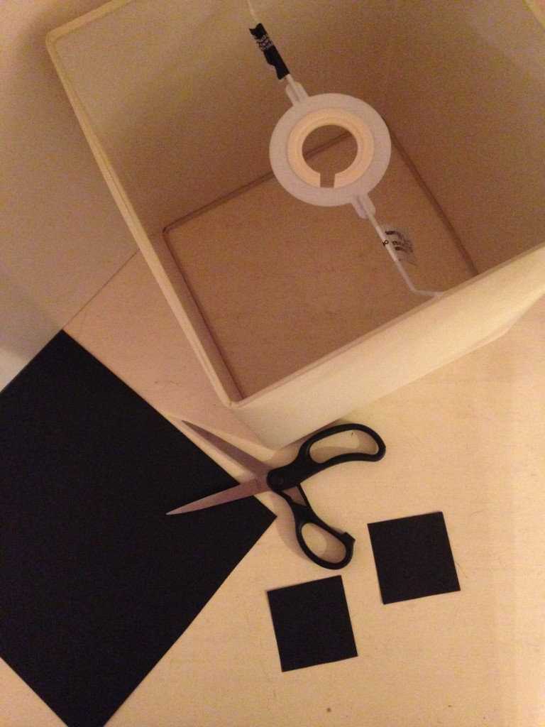 the raw materials to make a Creeper lightshade