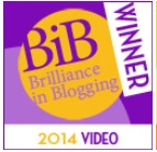 Brilliance in Blogging Award 2014 winner for Video JuggleMum
