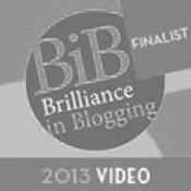 Brilliance in Blogging Award Finalist 2013