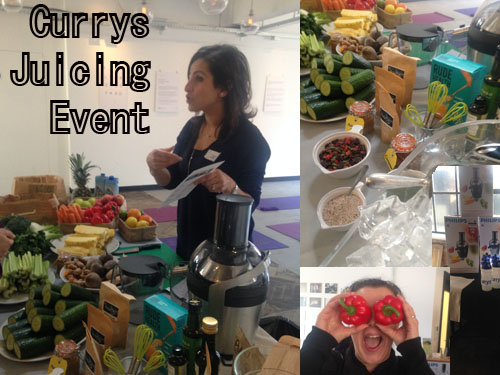 Curry's Introjuicing Event photo montage