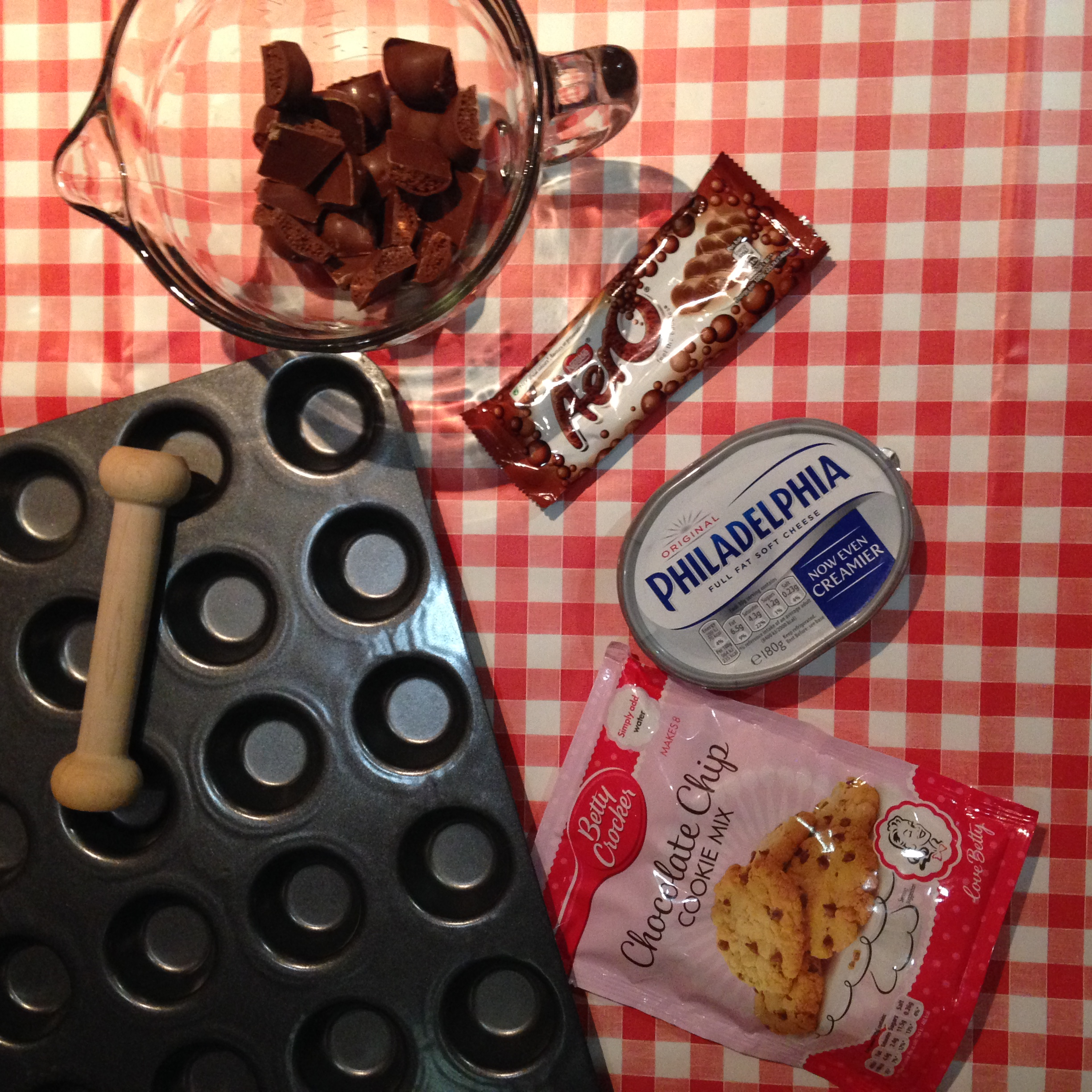 Ingredients for Pampered Chef Mini Aero Cheesecakes