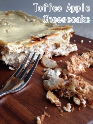 Slimming World Toffee Apple Cheesecake