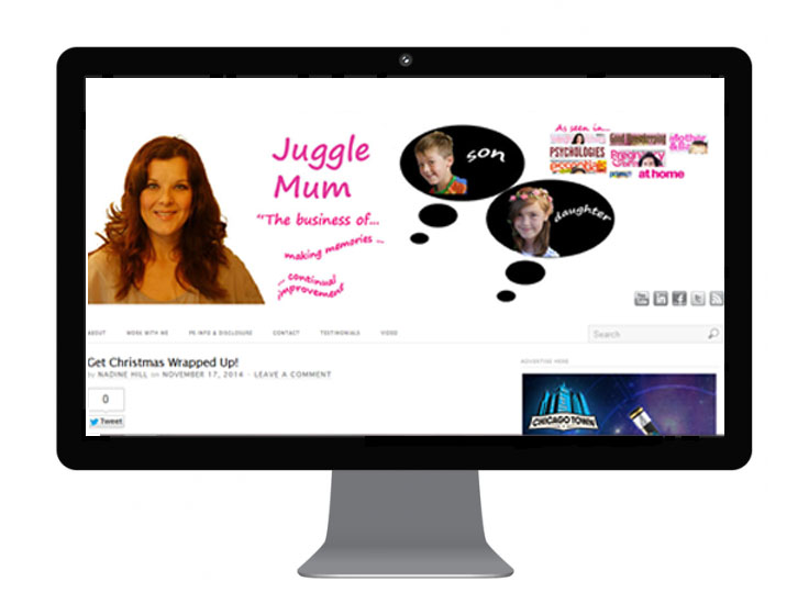 JuggleMum Blog Design from September 2013