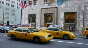 NYC cabs and buildings