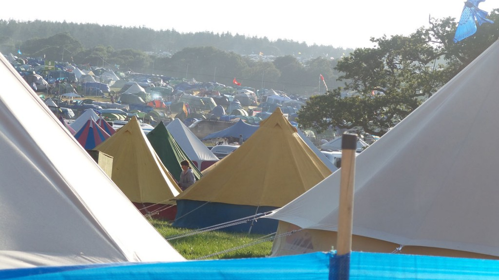 A sea of tents at Camp Bestival