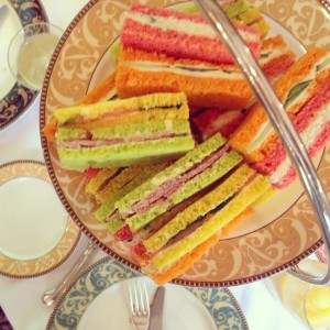 coloured sandwiches Mad Hatters Tea Party