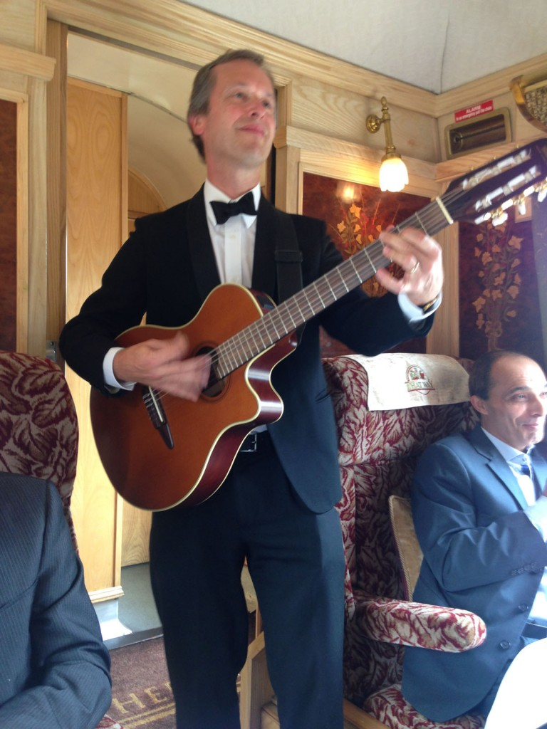 table musician on the Orient Express
