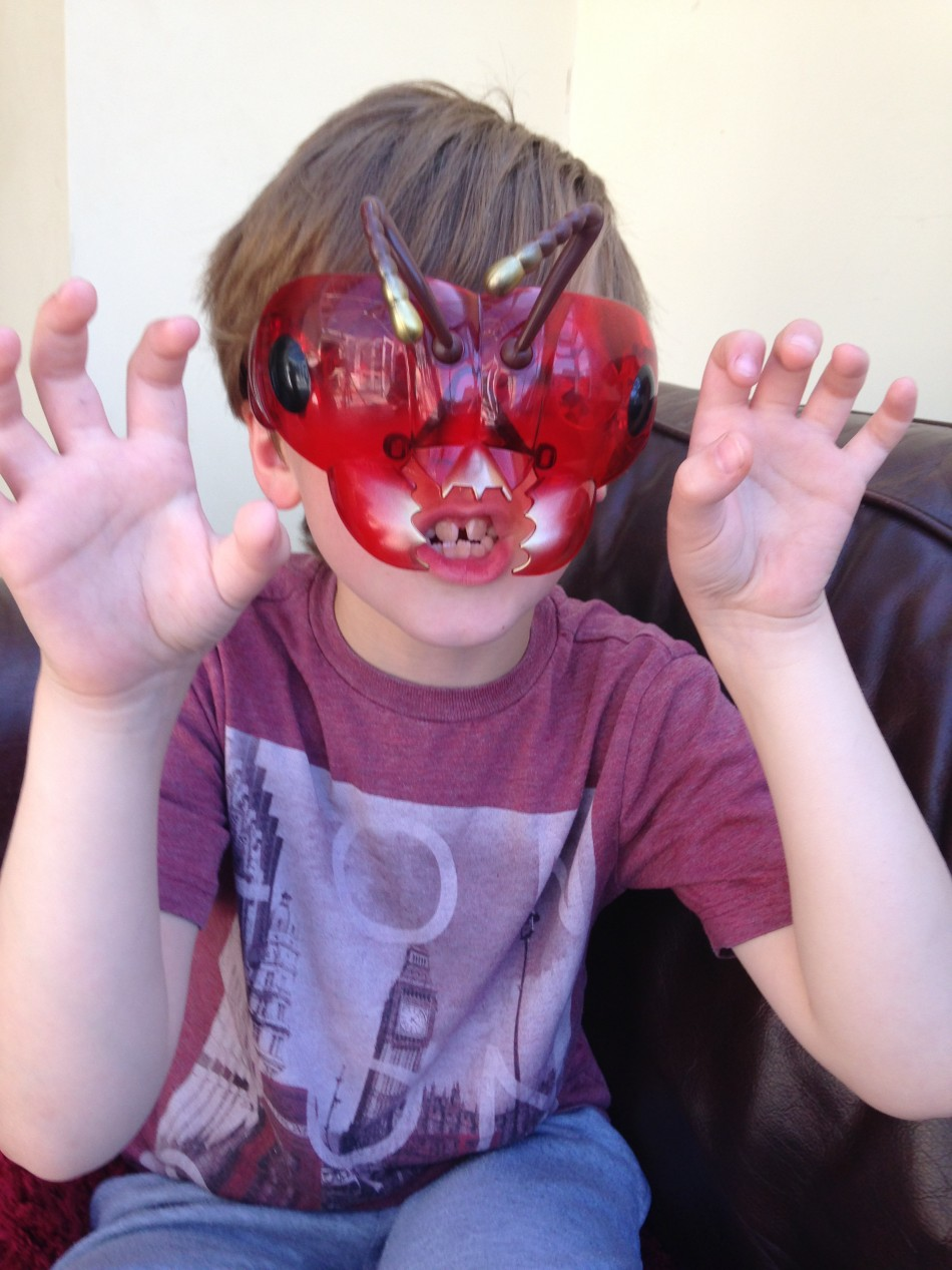Boy wearing Bug Goggles