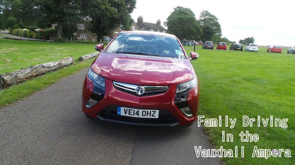 Family driving in the Vauxhall Ampera