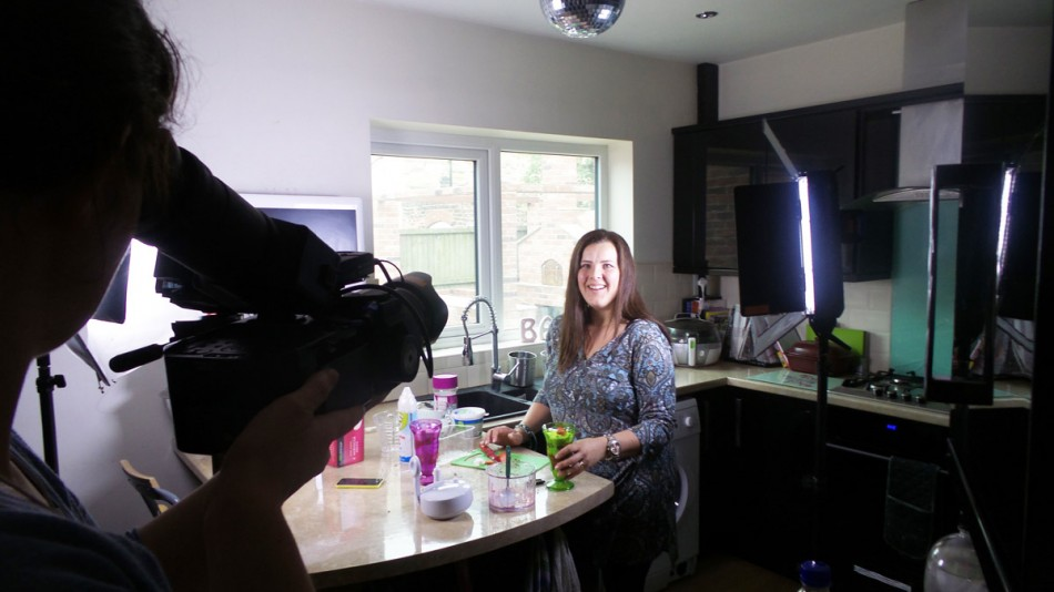 filming in my kitchen