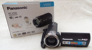 Panasonic HC-V550 Camcorder and box