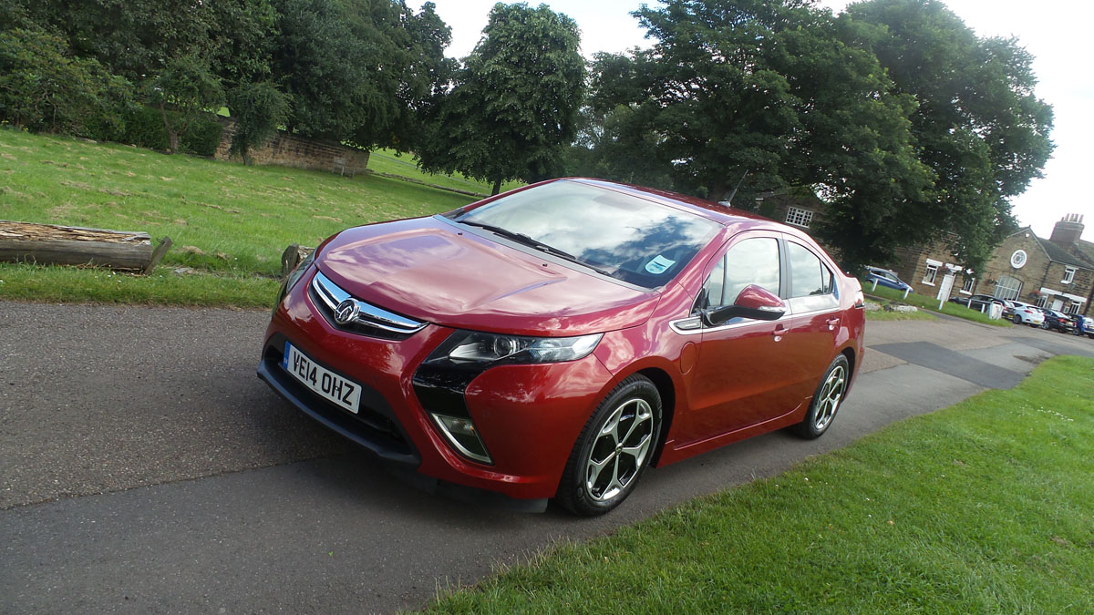 The Vauxhall Ampera electric car