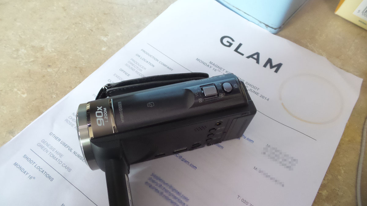 callsheet and camcorder