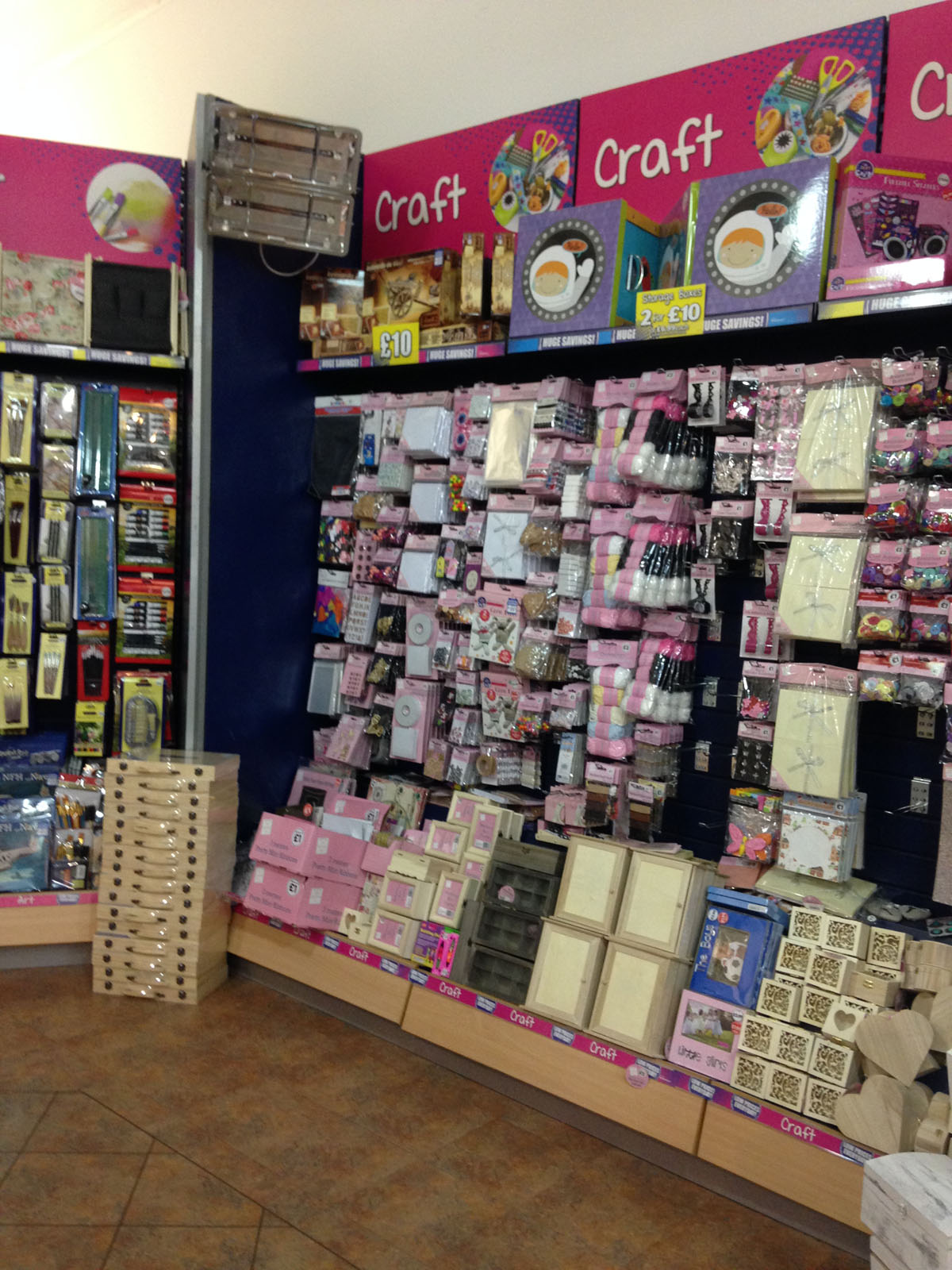 in-store craft corner