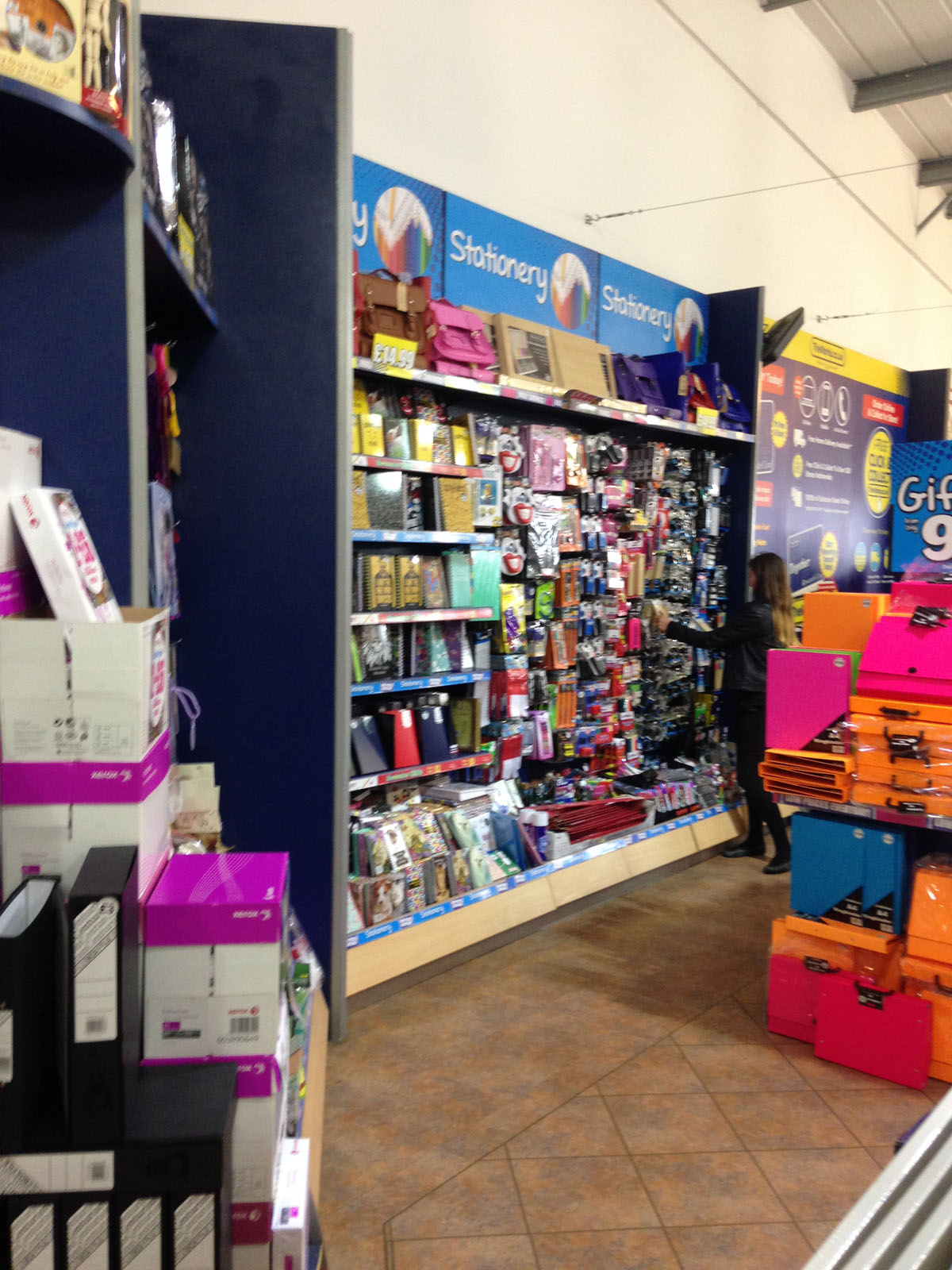in-store stationery