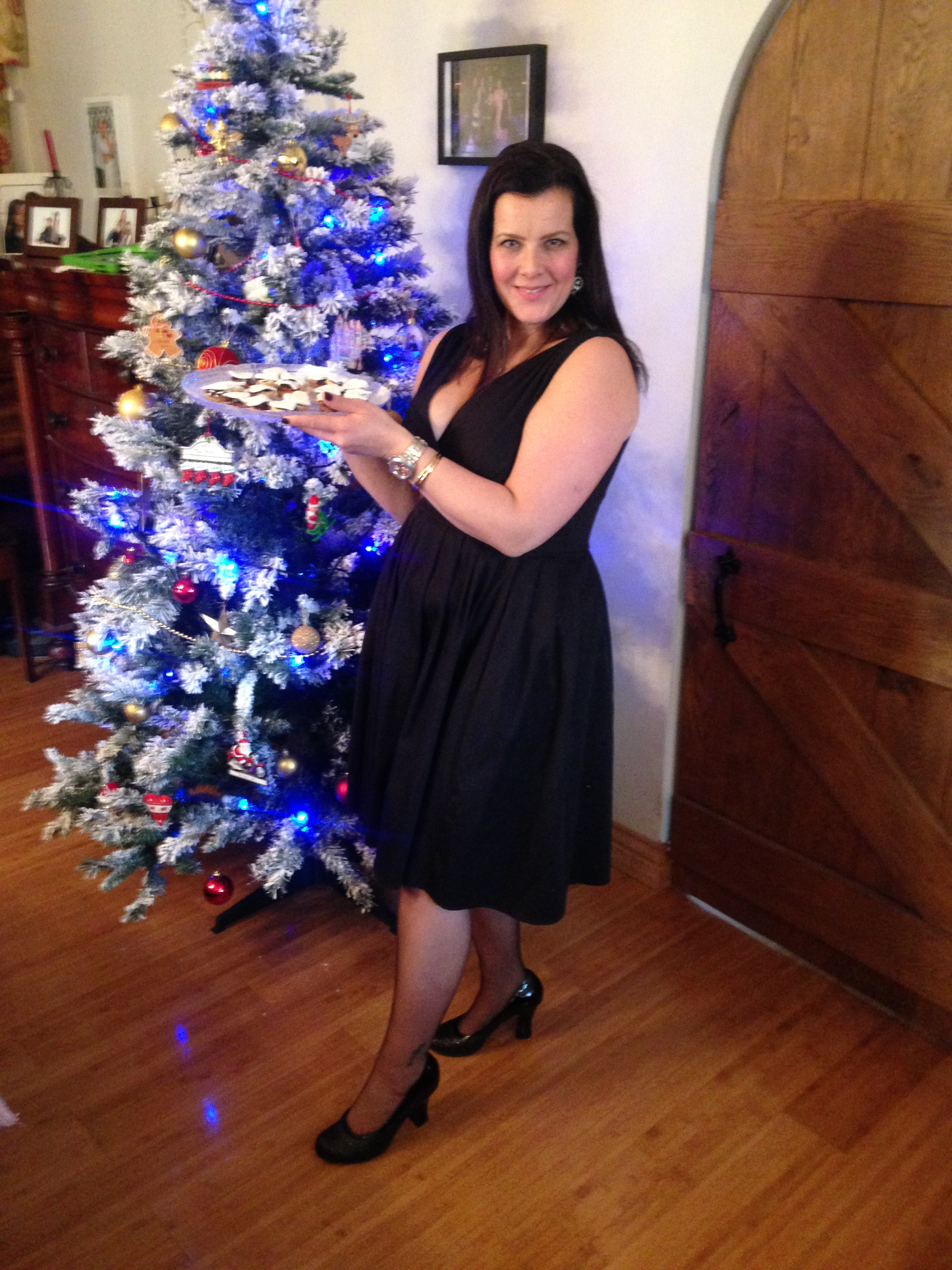 me in Hotter shoes with mince pies