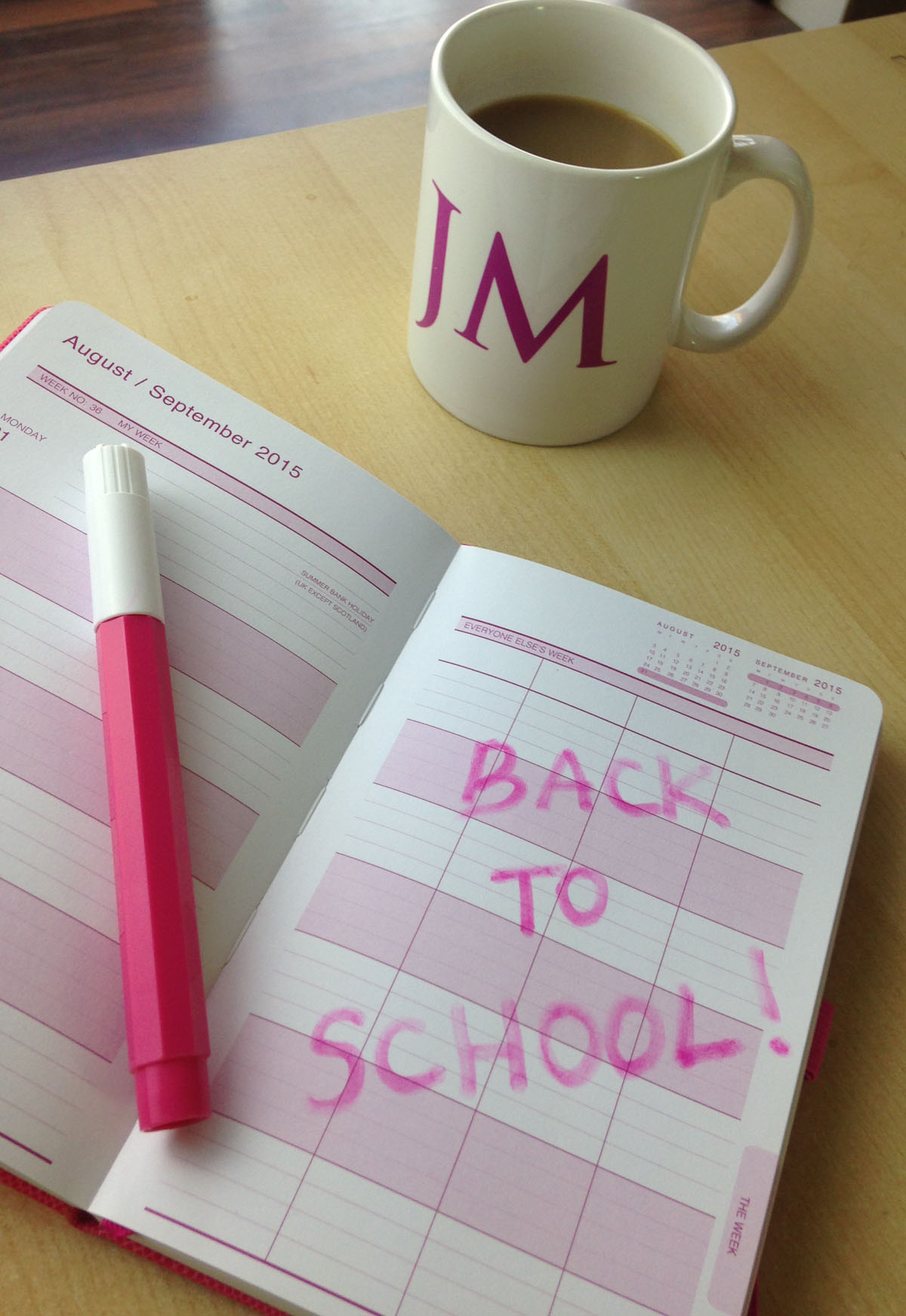 Back to School Mums Office Diary