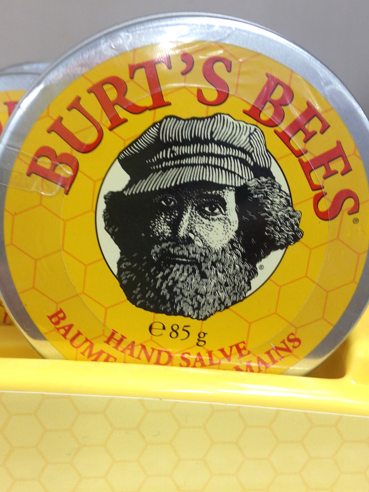 close up Burts Bees Hand Salve