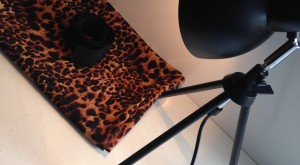 fabric with photography lamp