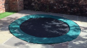 how to sink a trampoline