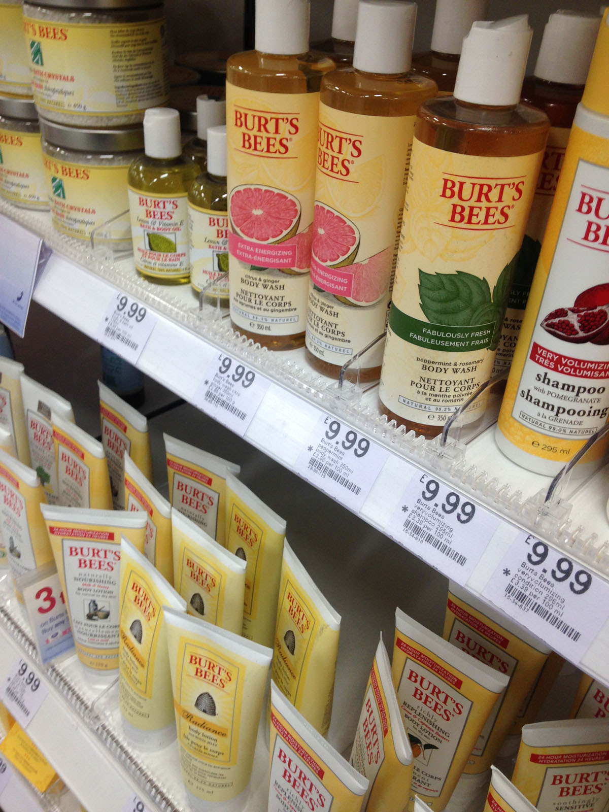 loads of Burts Bees products