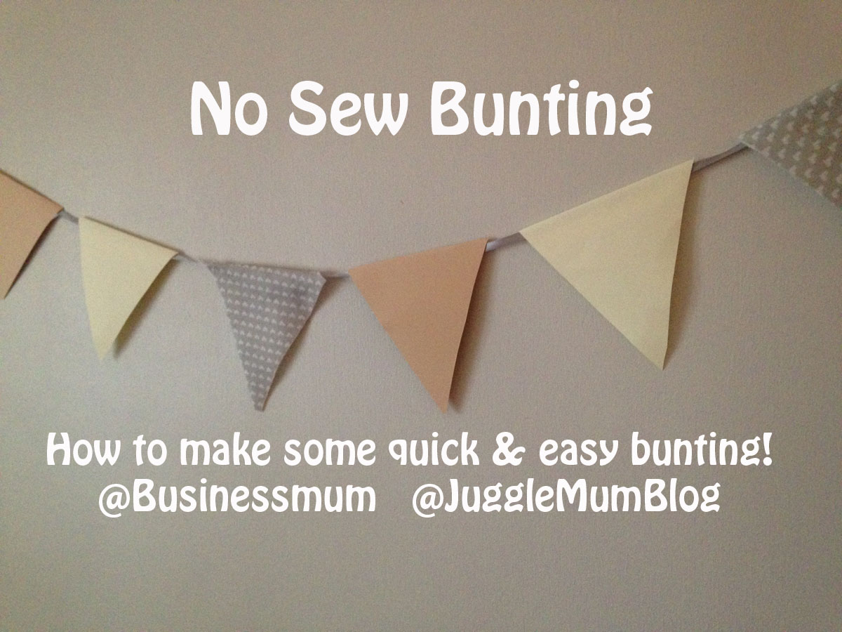 How to make quick easy bunting jugglemum for Easy things to make out of paper for kids