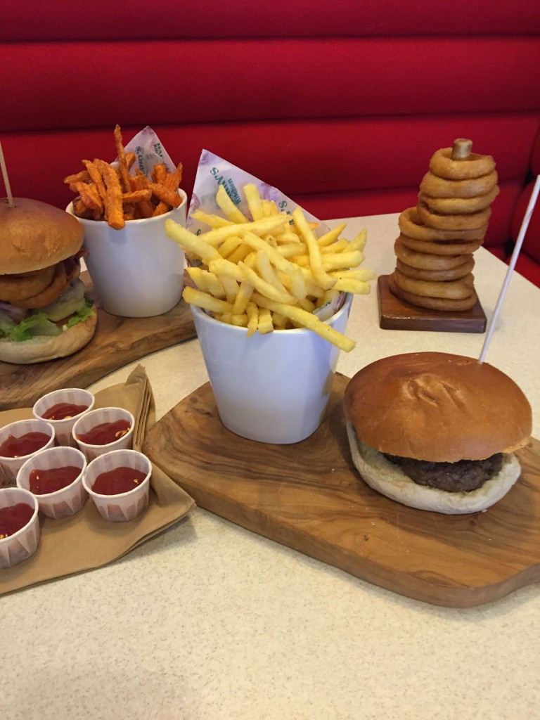 meals on wood platters