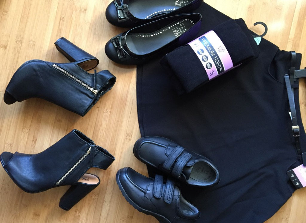 school wear flat lay