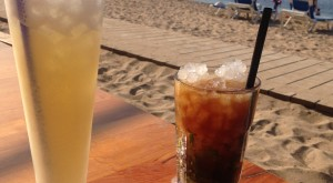 Drinks by beach