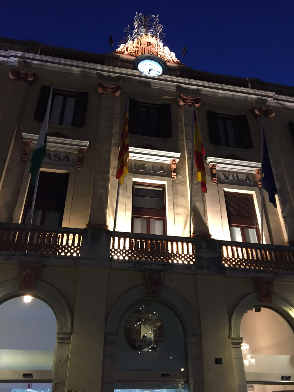 Lloret Town Hall at night