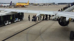 people boarding an aircraft