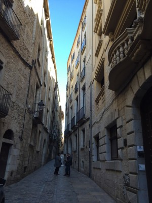 narrow streets of old Girona