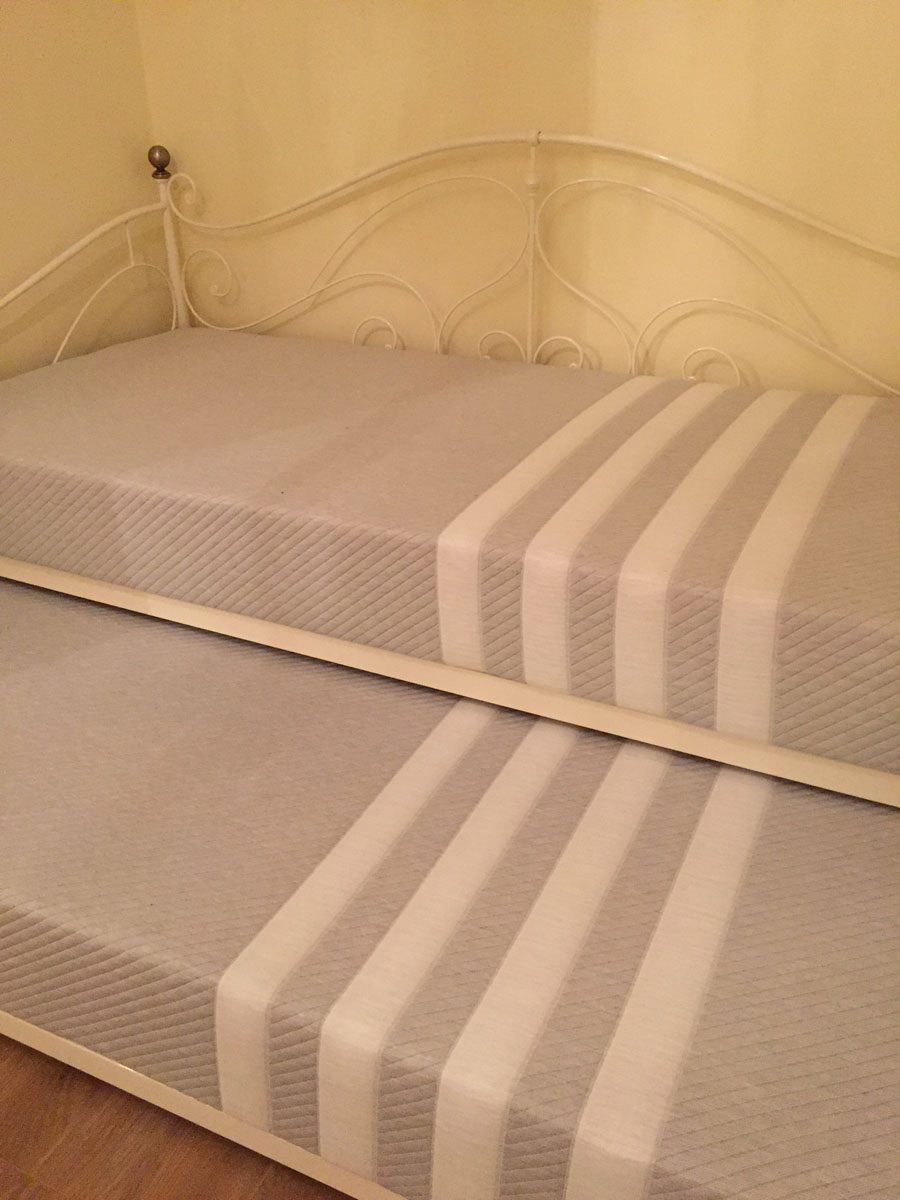 Two Leesa mattresses- size single