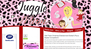 JuggleMum Blog screengrab