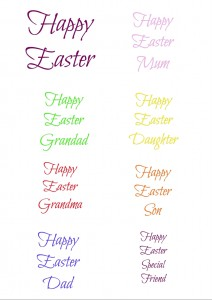 Easter labels printable