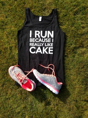 I run because I really like cake vest