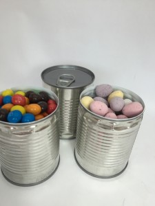 fill tins with treats