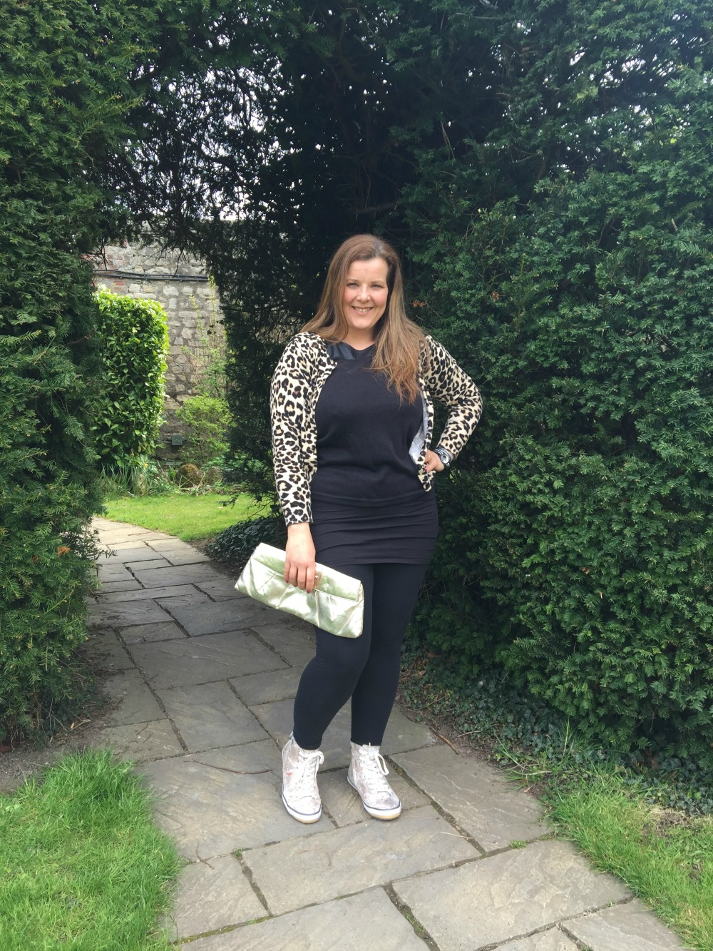 Wolky leopard cardi and bag