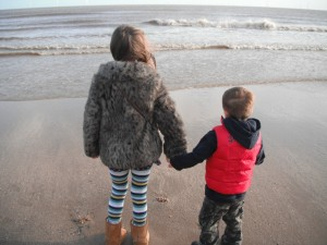 kids on beach 2011