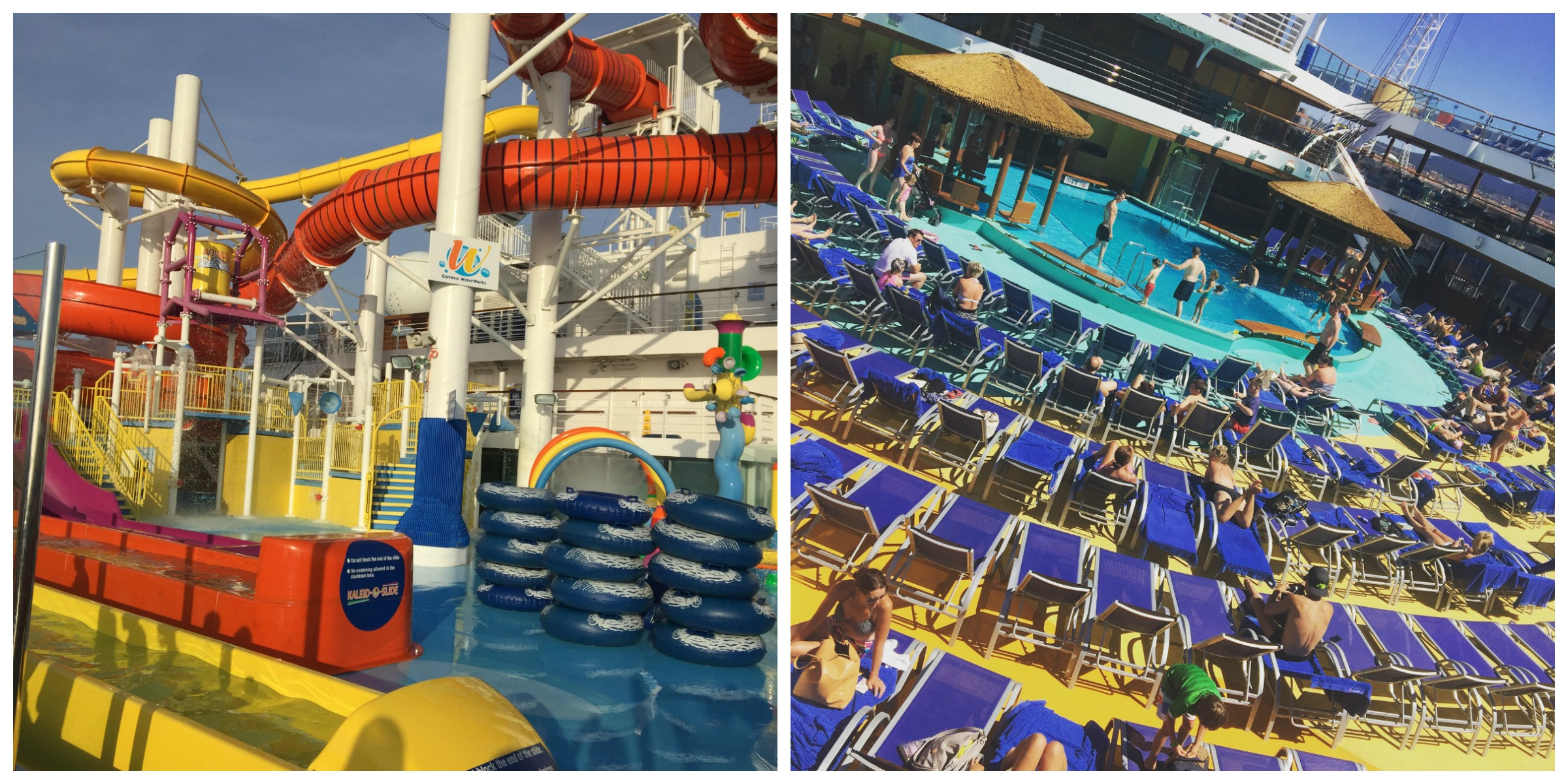 Lido deck collage