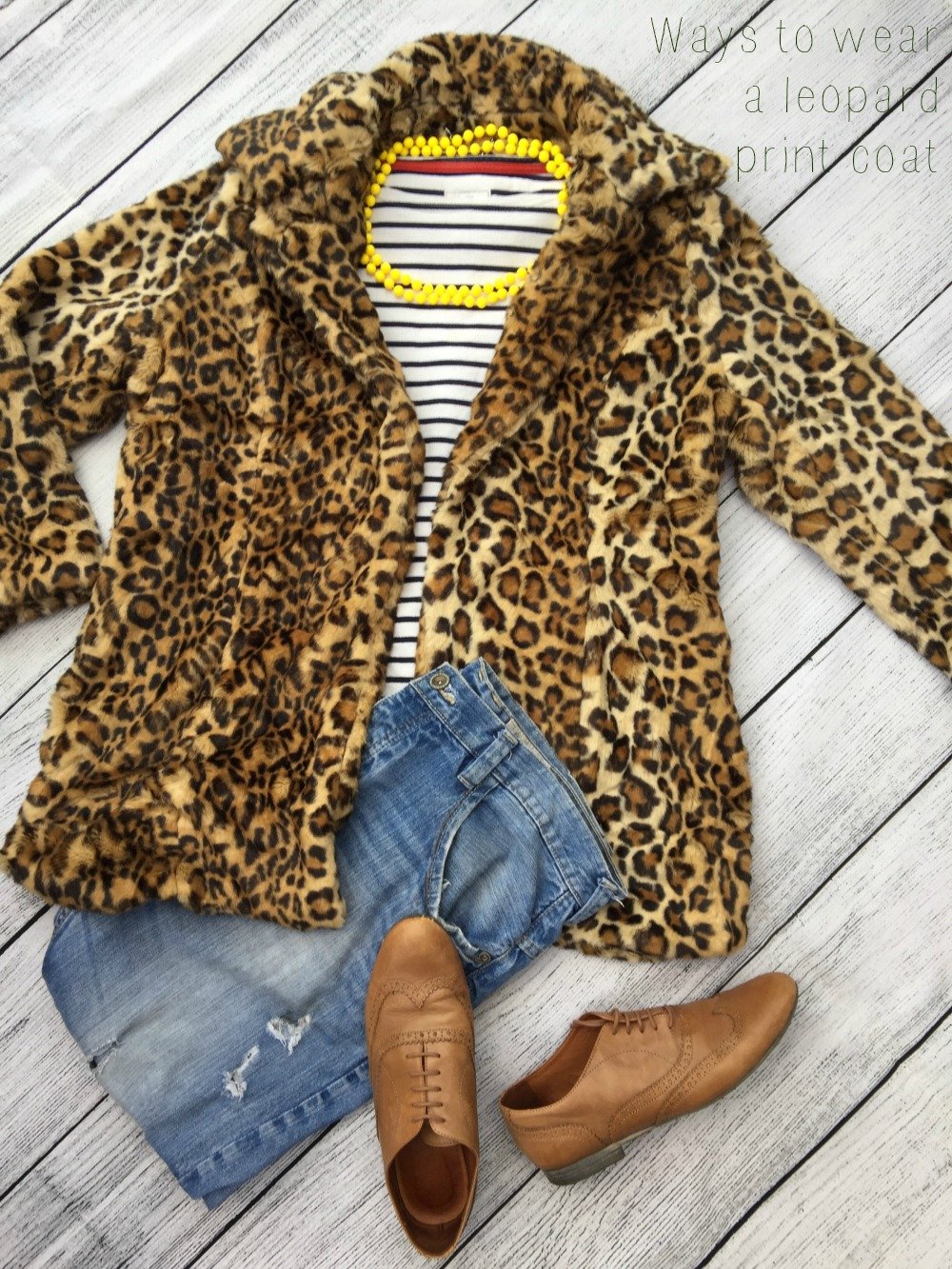 Leopard print coat hero shot