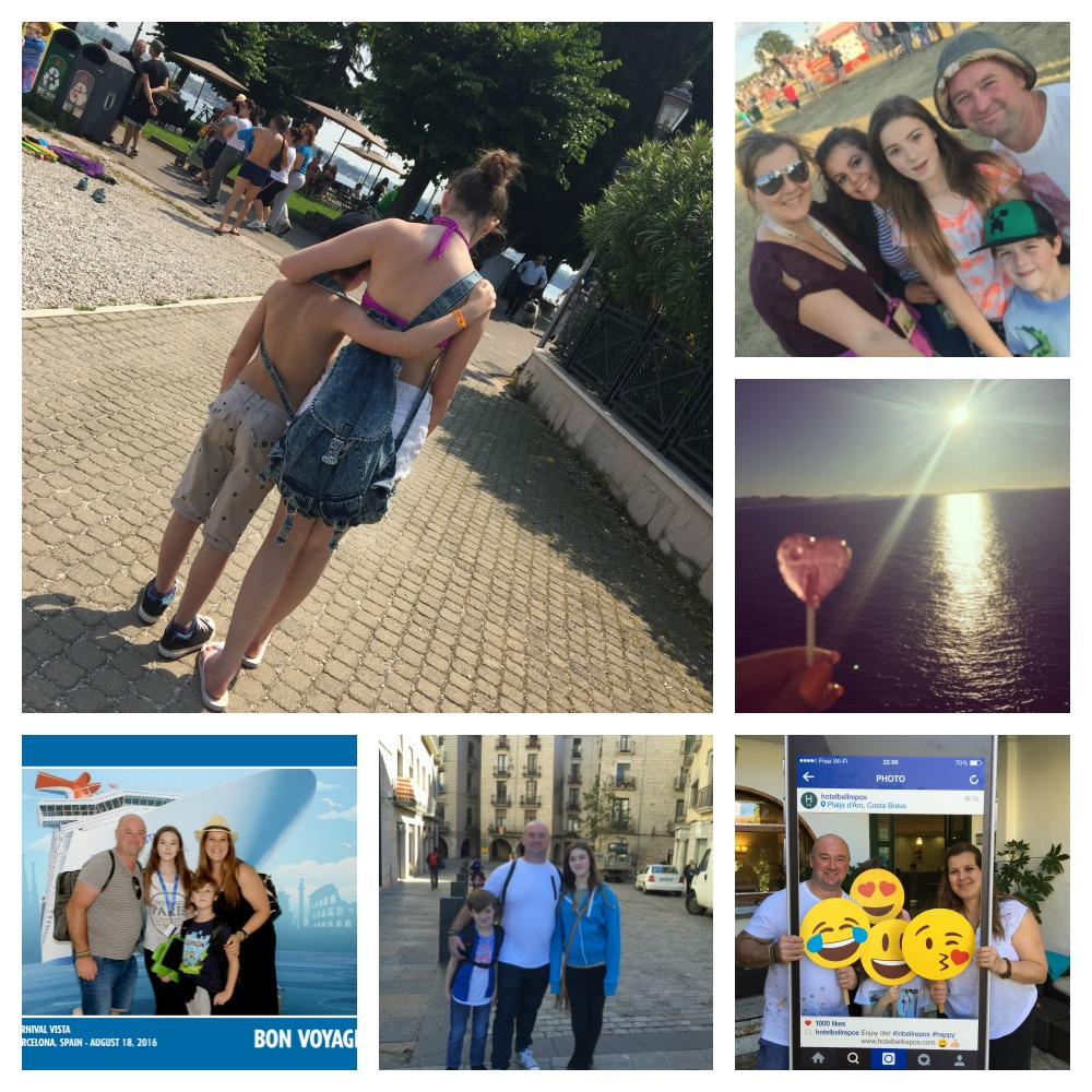 family holiday collage