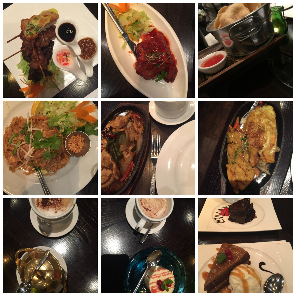 Sukhothai food collage