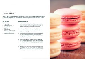 Macaroons recipe Belling