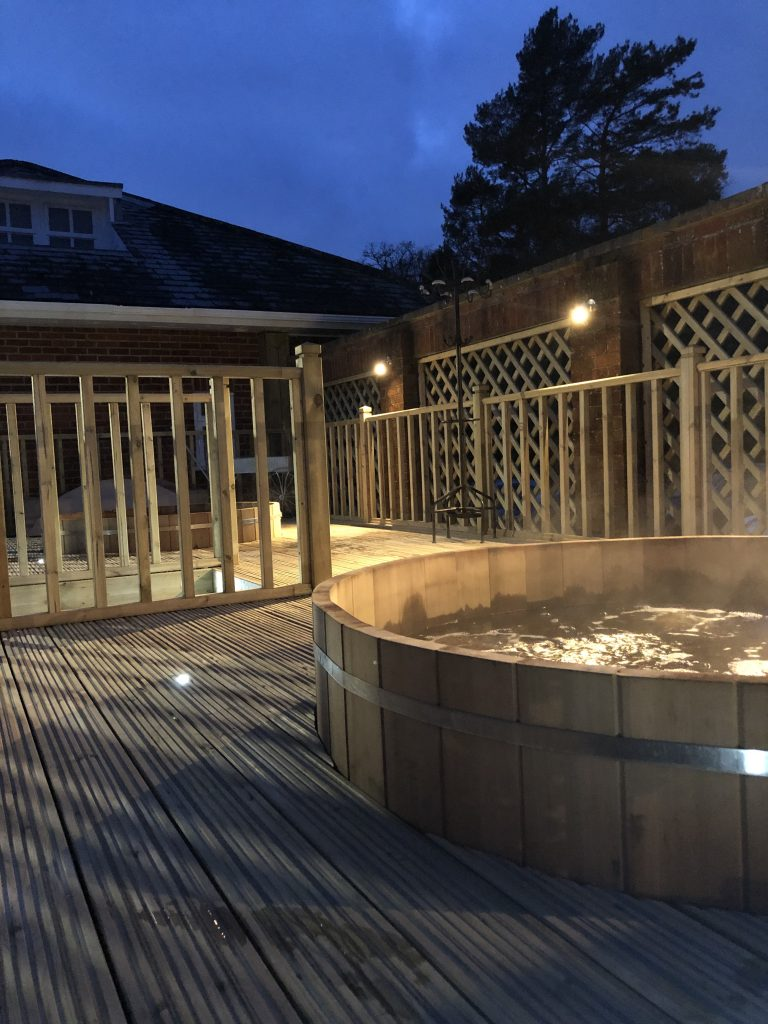 hot tubs at the Park Spa at Warbrook House