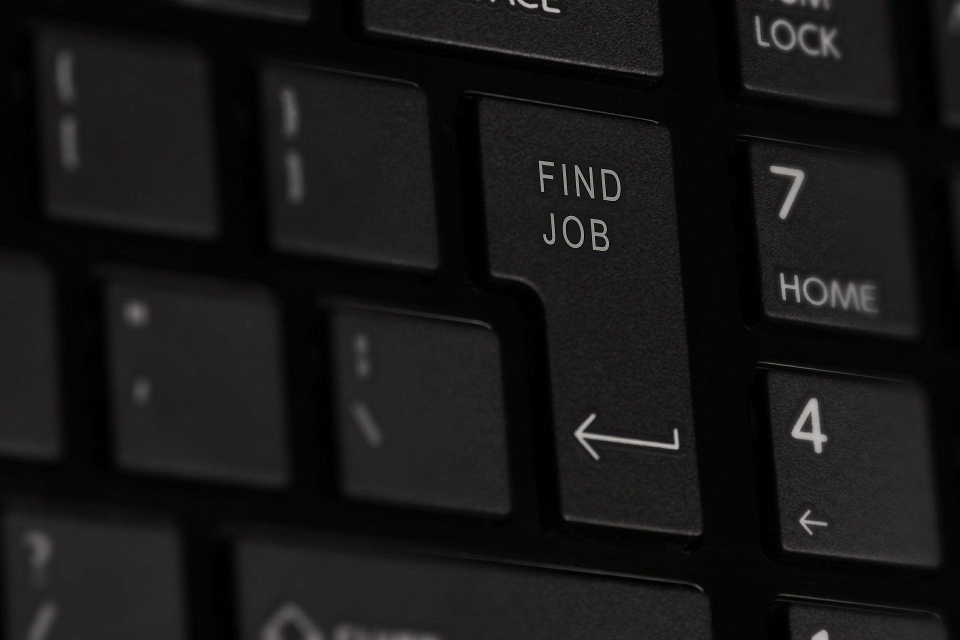find job hunt computer keyboard